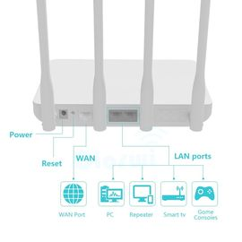 China Large Capacity Ram64M Unlock Wifi Router For Home 300mbps Openwrt System / OS factory