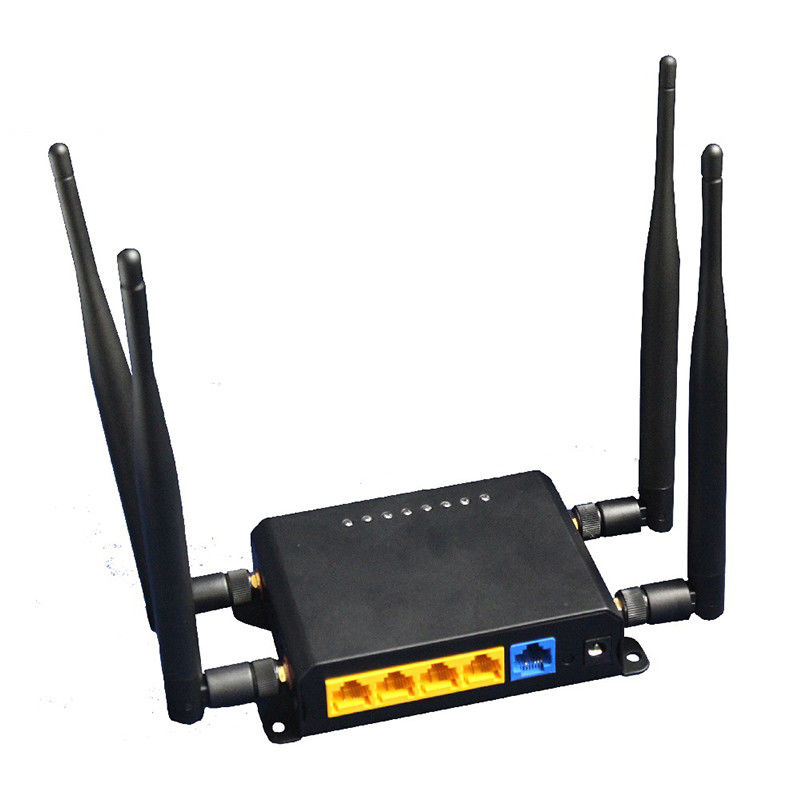 Black 300Mbps LTE Wifi Router MT7620A Main Chipset Support 3G / 4G supplier